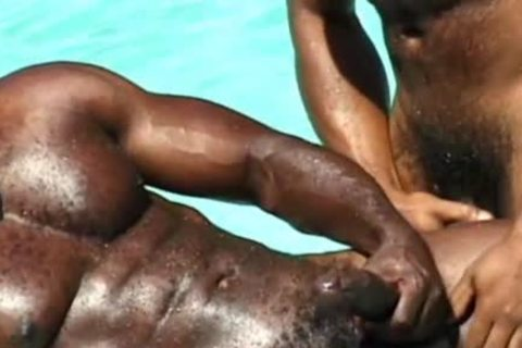excellent black Muscle Hunks