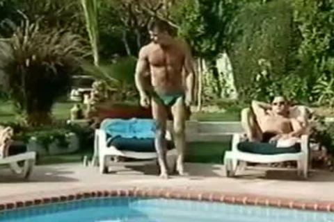 Tattooed Hunks Love Each Other Near The Pool