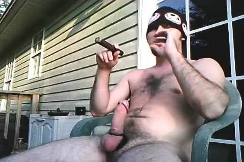one more older clip Of Me Stroking Outside When I Lived In Alabama. Just Enjoying A filthy Cigar And Being A man!