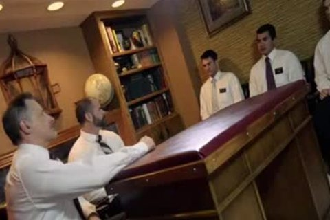 Mormon orgy - Three Elders, Two twinks