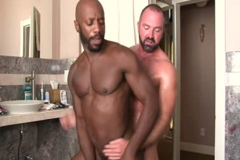 A gay Interracial Scene With  Josh West And Race Cooper