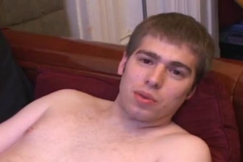 brunette boy Strokes His rod And Cums A Lot
