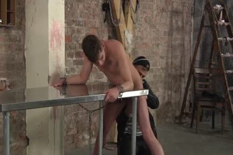 Deacon likes To bang Cameron butt whilst manacled On Table