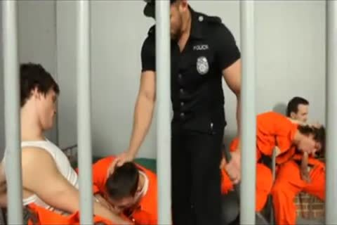 horny Prison orgy