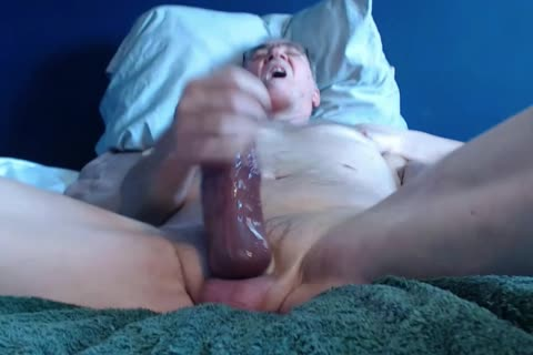 thick dick grand-dad long stroke On web camera (no sperm)