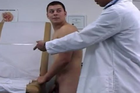 College man strips For His Doctors fantasy That Comes To Life