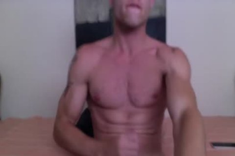 Justin Matthews Has A sex goo Fest On His Six-Pack Abs