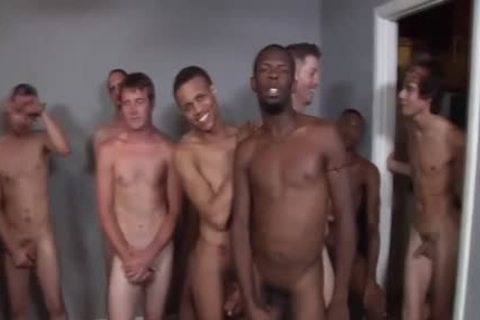 Interracial bunch-sex Ends With Bukkake
