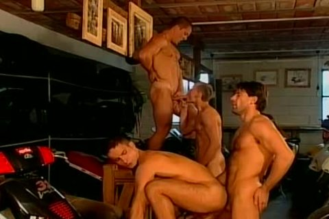 Muscled Biker men Are nailed rough And nude At This homosexual Bar