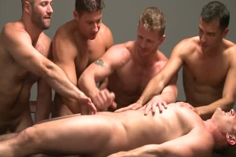 Muscle homo oral job stimulation And goo flow