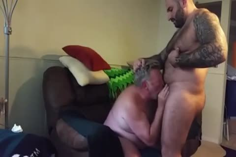 corpulent Daddy receives poked By Muscle Bear