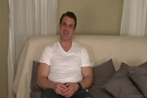 Straight Hunk Tricked Into Surprise oral stimulation During audition