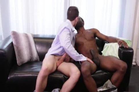 thick penis gay Interracial With spunk flow