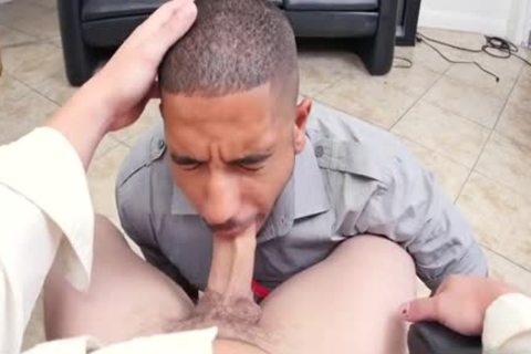 Muscle homo threesome And Facial