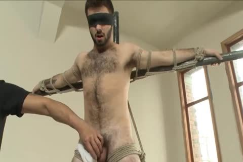 Sadomasochism - Moist hairy man Acquires Fastened Up And Edged.