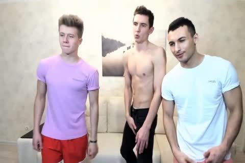 three Russian fashionable boys With Great Round poopers,nice rods On cam