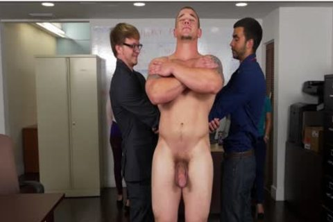GRAB ass - Hunky Boss Teaches His Office Team All About Teamwork