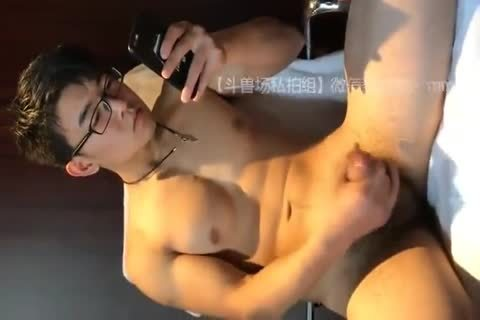 wild asian lad strips Down And Jerks His wang