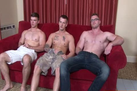 Muscle homosexual 3some And ball batter flow