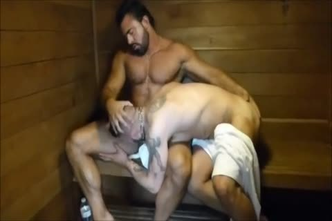 MM Two hairy Muscle Hunks plow bare At The Gym