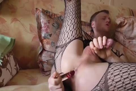 Lana Tuls - Crossdress And Assplay With toys And cumshot