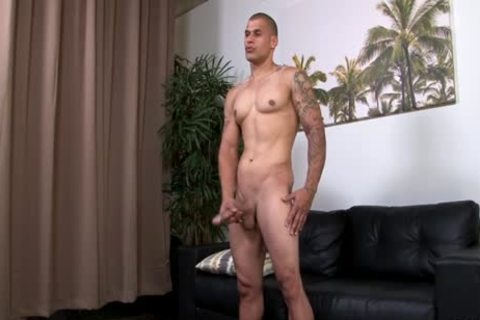 Hung pumped up Hunk Stroking His thick Uncut penis