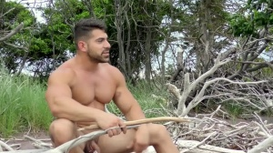 Stranded - Damien Stone and Jack Hunter ass poke