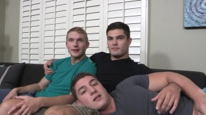 bare three-some With Pete, Tanner, And Forrest - anal Play