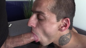 Tattooed lad in quick and painful fuck