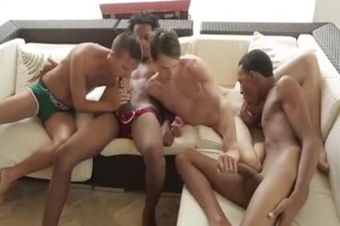 Mammoth dark guys In orgy
