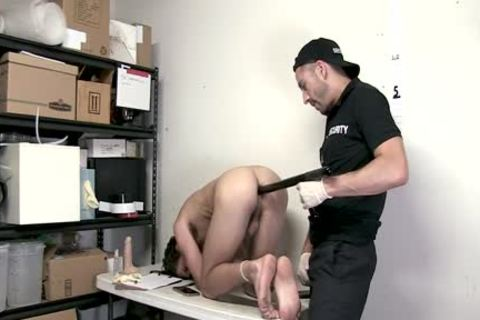 bound twink Shoplifter Barefucked By Guard