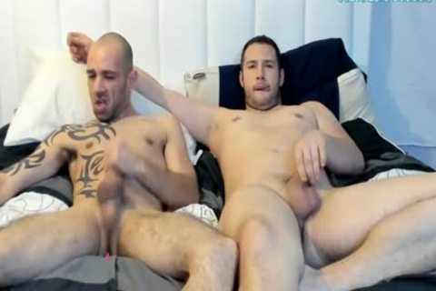 humongous 10-Pounder Tattooed guy Sucked His new allies dick