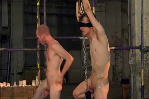 Blindfolded twink banged Hard By corporalist Male master