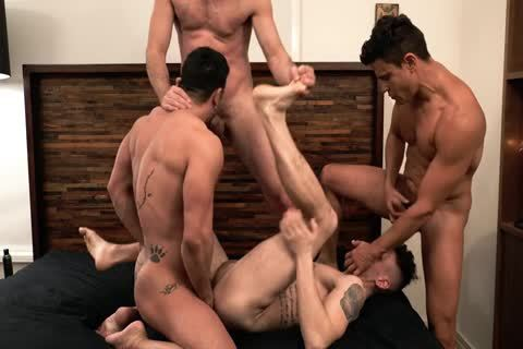 Asher Hawk Services Three Rock-Hard raw cocks