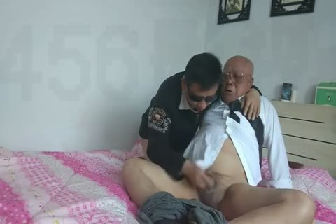 young Chinese Sucks & fucks His grand-dad friend