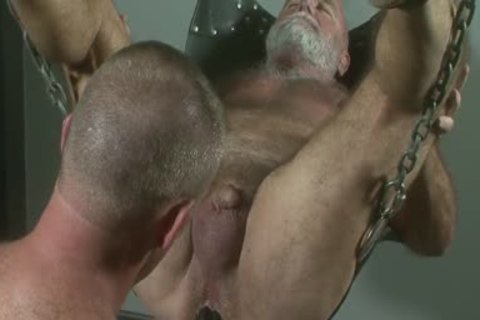powerful Bruce Mills Uses Daddy Jake Shores hole