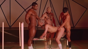 DrillMyHole: Athletic Francois Sagat orgy indoor