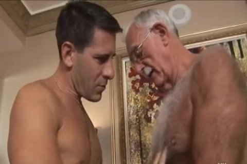 hairy grandad Mutual Masturbation With Younger Coworker
