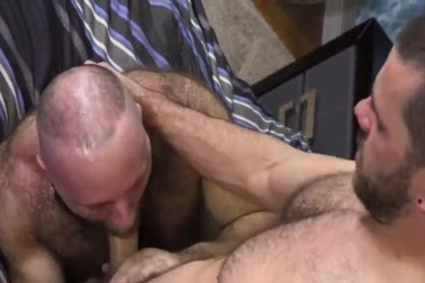 shaggy Teddy Bear pounding big Cocked Hunk