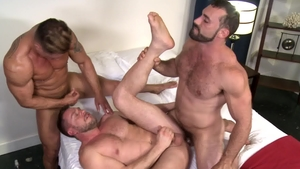 Extra Big Dicks - Muscled Bryce Evans threesome scene