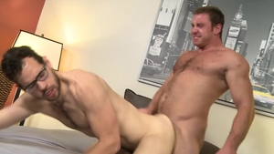 ExtraBigDicks: Brunette Connor Maguire touches huge cock
