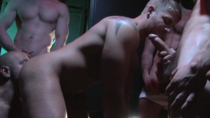 FalconStudios: Damien Stone & Danimal tongue kissing